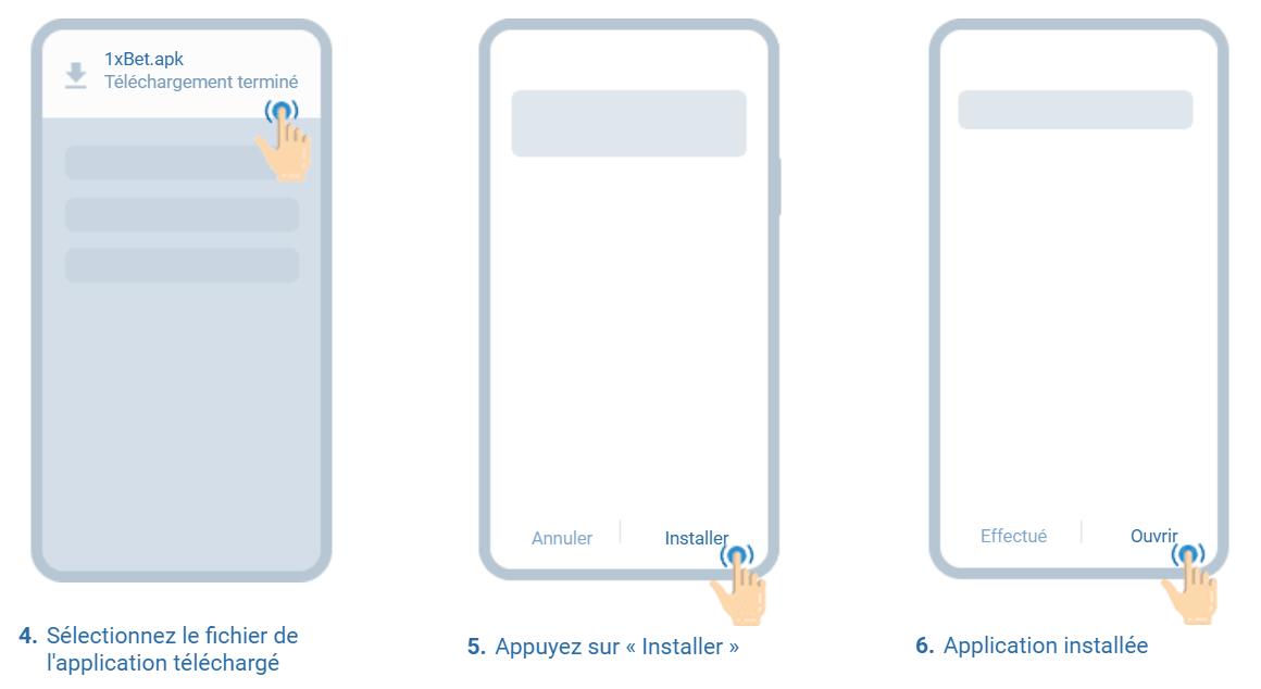 Télécharger 1xbet APK - Comment installer l'application 2